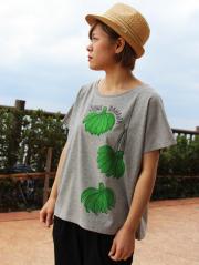 レディースワイドTeeシャツ 島バナナ(緑)