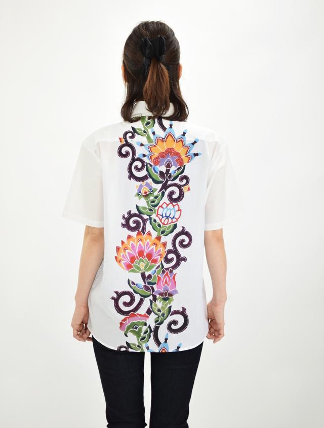 BDシャツ 南国唐草